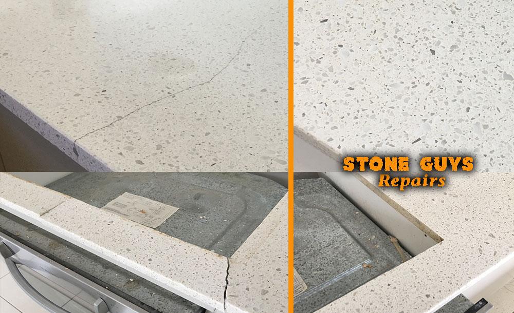 crack caesarstone stone benchtop crack silestone crack essastone crack granite crack marble crack repair