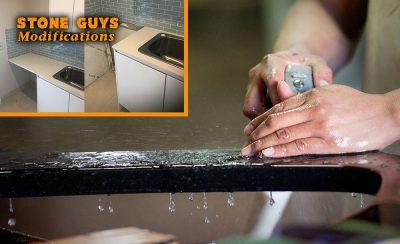 cutting stone benchtop hotplate modify cut caesarstone sink cutting caesarstone